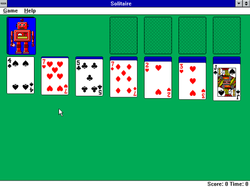 Solitaire z Windows 3